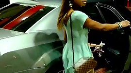 Blasian T-Girl Escort at a Wawa