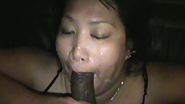 Asian BBW loves my load all over face