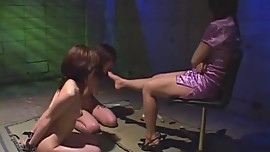 Two Japanese Lesbian Slave Worship Feet