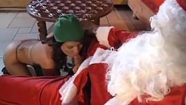 Asian Shan holidays fucking Santa