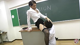 Classy Japanese Teacher Julia Winston Gives Student a Schooling