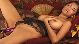 Exotic Asian Dildo Masturbation