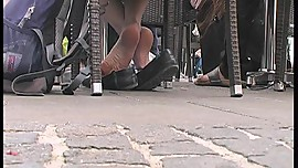 Sweaty Young Asian Soles After Sightseeing 1