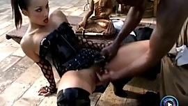 Asian hottie Katsumi gagging on a BBC