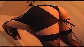 Japanese av model shame ! voyeur : hairy pussy through pantyhose ! 1