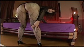 Japanese Av Model Shame ! Voyeur : Hairy Pussy Through Pantyhose ! 9