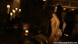 Exotic Ritual Brunette Nude