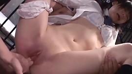 Minami Asaka licked and fucked hard by two males