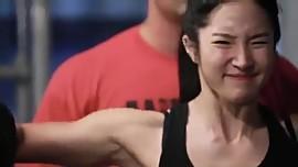 Korean Bodyfitness girl Lee Y. training