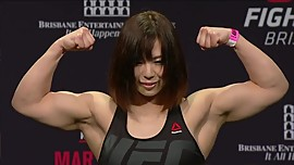 Cute Asian Muscle Girl Rin weigh in
