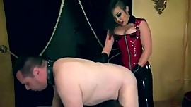 Kinky Asian Dominatrix Anally Penetrates Hapless Buffoon With Dildo Dick