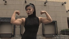 Asian Muscle Tomoko K. black dress