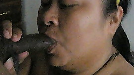 Asian wife blowing