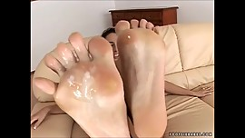 Rubbing Cum into Feet Compilation 5