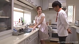 JAPANESE WIFE AYAKA FUJIKITA ENJOYS SERIOUS SEX AT HOME