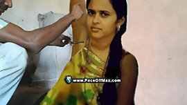 Poonam gets her soft armpits hair shaved by Raju barber completely smooth..