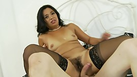 Asian Loves Reverse Cowgirl Ride