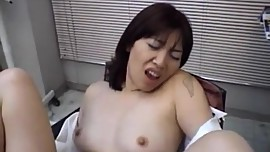 Chiharu Okuna gets cock in mouth at office
