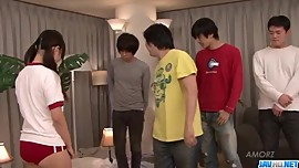 Asian, Ryo Asaka, sure loves fucking in group