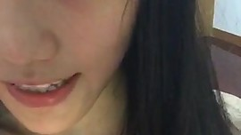 Cute Chinese girl selfie