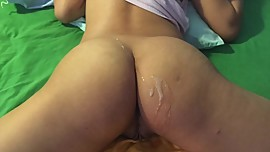 Horny asian doggystyle slut fucked from behind