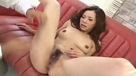 Reina Yoshii has snatch rubbed and sucks tool until gets cum