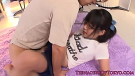 Asian spex teen pussyfucked from behind