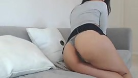 Sexy Asian Leilee webcam teasing on the sofa
