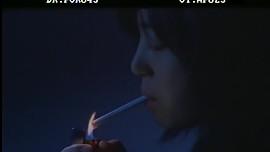 Korean woman smoking