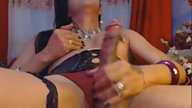 Erotic Asian Tranny Cum on Cam